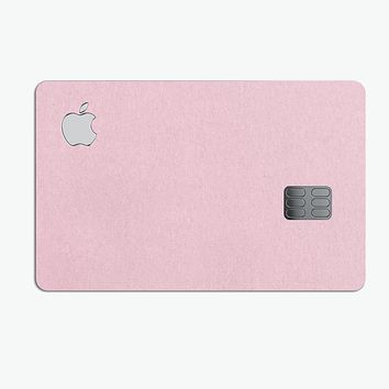 Baby Pink Solid Surface - Premium Protective Decal Skin-Kit for the Apple Credit Card