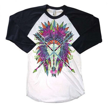 Arrow Headdress Raglan