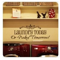 Generic DIY Removable Laundry Room Quote Decal Art Vinyl Wall Sticker Paper Lettering Black
