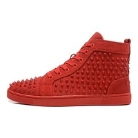 Christian Louboutin Women Men Fashion Casual Sneakers Sport Shoes-31