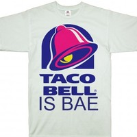 White T-Shirt | Funny Food Taco Bell Shirts