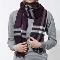 New Authentic BURBERRY Scarf 3994302-aubergine Women's