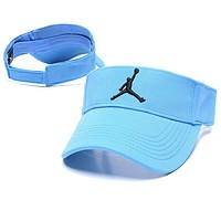 Jordan Hot Sale Women Men Summer Embroidery Sports Sunhat Baseball Cap Hat Blue