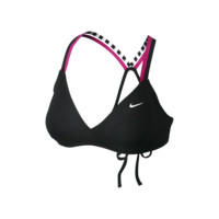 Nike Solid Remix Racerback Sport Bra Women's Swim Top