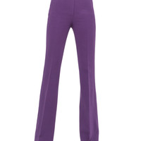 Women's Farrah Wool-Blend Pants - Akris - Clematis