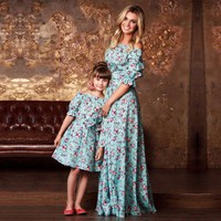 Mother daughter dresses Vintage Floral