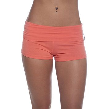 Foldover Waist Workout Yoga Hot Mini Shorts