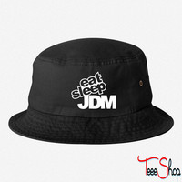 eat sleep jdm bucket hat