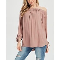 Show Me Off The Shoulder Top in Mauve