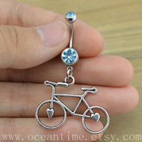 Bicycle Belly Button Rings,bike Navel Jewlery,bicycle belly button ring,summer jewelry