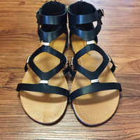Running To You Gladiator Sandals Inspired by Steve Madden- Black