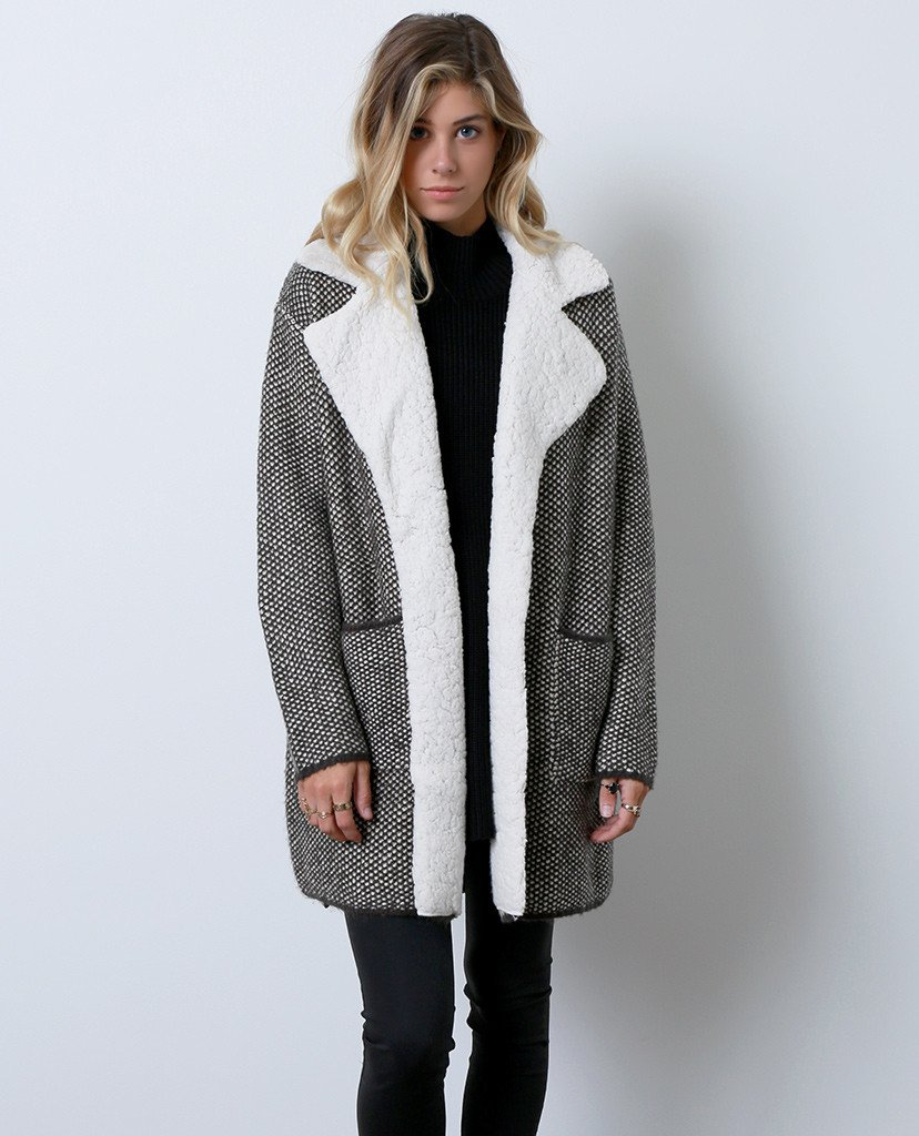 Image of Go To Sweater Coat - Gray