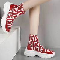 Fendi Woman Men Boots Fashion Breathable Sneakers Running Shoes