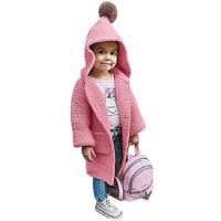 Baby Girl Cardigans Cable Knit Cardigan With Hood