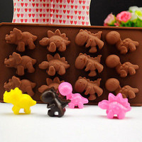 Dinosaur Silicone Fondant Mould Cake Candy Jelly Chocolate Muffin Baking Mold EW