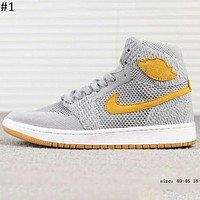 Nike Air Jordan 1 Retro High Flyknit AJ1 Flying woven high-top basketball shoes F-A-FJGJXMY #1