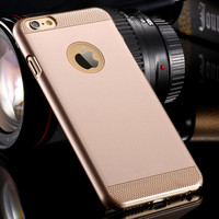 Luxury Ultra Thin Light Back Case For iphone6 Plus Gold Back Cover For Apple iPhone 6 Plus 5.5 Simple Retro Back Cover YXF04986