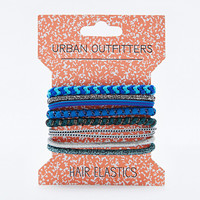 Mixed Hair Bobble Pack in Blue - Urban Outfitters