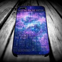 Doctor Who Quotes trust me im doctor art for iPhone 4/4s/5/5s/5c/6/6 Plus Case, Samsung Galaxy S3/S4/S5/Note 3/4 Case, iPod 4/5 Case, HtC One M7 M8 and Nexus Case ***