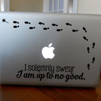 Solemnly Swear I'm up to No Good! Unique Harry Potter Macbook Decal