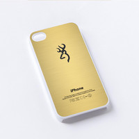 Browning deer gold iPhone 4/4S, 5/5S, 5C,6,6plus,and Samsung s3,s4,s5,s6