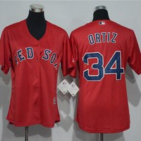 Women's Boston Red Sox #34 David Ortiz Majestic Cool Base Jersey