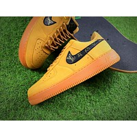 LV x Nike Air Force 1 Low AF1 Wheat Sport Shoes