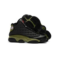 Nike Air Jordan 13 Retro AJ13Fashion New Sneaker Shoes Black/Army Green
