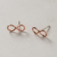 Rosegold Infinity Posts by Anthropologie Pink One Size Earrings