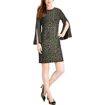 Jessica Howard Womens Flutter Sleeve Cocktail Sheath Dress