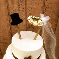 Rustic wedding cake topper country fall weddings