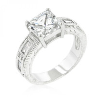 Clear Cubic Zirconia 5-stone Ring