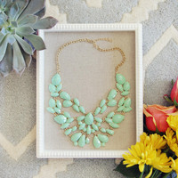 Sacred Stones Necklace in Mint