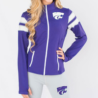 Kansas State Wildcats NCAA Womens Yoga Jacket (Purple) (Small)