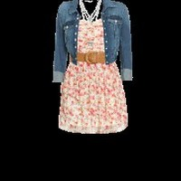 Hot off the WetSeal Runway: Belted Floral Spring Dress outfit designed by Wet Seal Stylist
