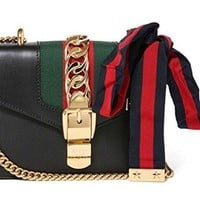 Gucci Women's Leather Classic Striped Bag
