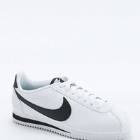 Nike Classic Cortez White Leather Trainers - Urban Outfitters