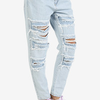 Patchwork Destroyed BFF Denim