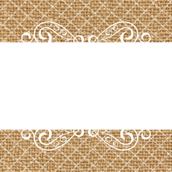 30 Burlap and Lace Vintage Stickers, 2 x 2 Inches