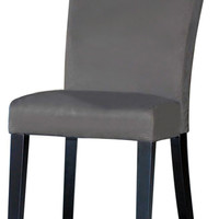 Grey Microfiber Modern Parson Side Chair (Set of 2)