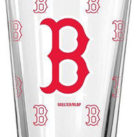 MLB Boston Red Sox 16-Ounce Color Changing Pint Glass, Set of 2