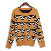 Stylish Scoop Neck Printing Long Sleeve Christmas Sweater For Women