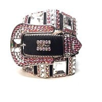 B.B. Simon 417-NI Strawberry Monster Swarovski Crystal Belt