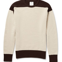 Visvim - Isles Two-Tone Wool and Cashmere-Blend Sweater
