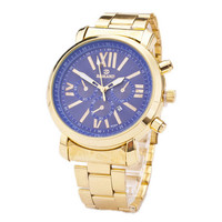 Mens Business Sports Casual Gold Strap Watches Best Christmas Gift Watch-145