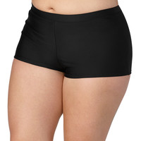 Plus Size - Black Swim Short - Black