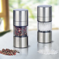 Stainless Steel Manual Salt Pepper Mill Grinder Seasoning Muller Kitchen Tools kitchen accessories Kitchen Gadgets