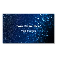 Customize your own Business Cards - Blue