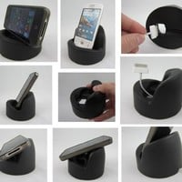 2 PACK - BLACK 1st Production Run Prototypes - SqueezeProp - Soft Smartphone Stand - Universal Fit Cell Phone Holder / Dock - MADE IN USA