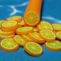 Polymer clay cane fruit 1pc uncut orange for miniature dessert foods decoden and nail art supplies